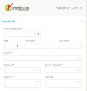 Click Here To sign up on Vcommission